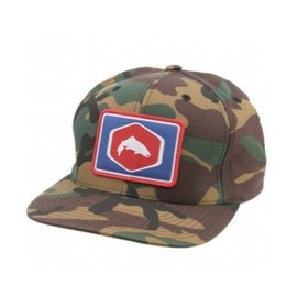 Cotton Twill Patch Snapback Simms Cotton Twill Patch Snapback Hat - Wildland Camo Fly