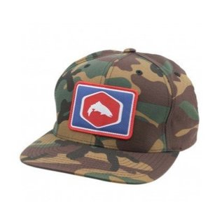 Simms Cotton Twill Patch Snapback Hat - Wildland Camo Fly