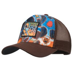 Buff Headwear Buff Trucker Cap - DeYoung Brown Mosquito