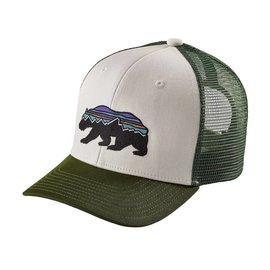 Patagonia Patagonia Kids Trucker Hat Fitz Roy Bear: White w/Glades Green ALL
