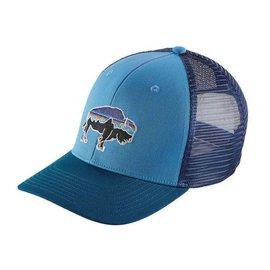 Patagonia Patagonia Fitz Roy Bison Trucker Hat - Radar Blue