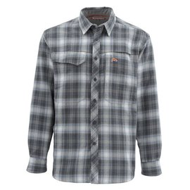 Simms Fishing Simms Guide Flannel LS Shirt - Dark Moon Plaid