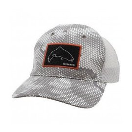 Simms Fishing Simms High Crown Patch Trucker - Hex Camo Boulder