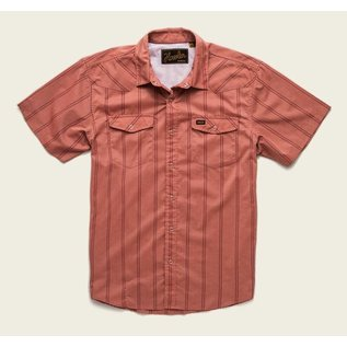 Howler H Bar B Tech Shirt - Relic Stripe - Burned Red