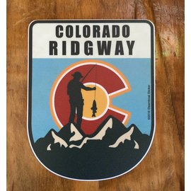 Vintage Fisherman - Colorado Sticker