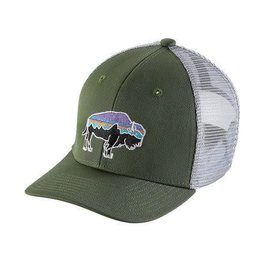 Patagonia Patagonia K's Trucker Hat - Fitz Roy Bison - Buffalo Green/Gray