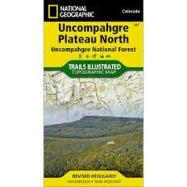 National Geographic Maps Uncompahgre Plateau  - North