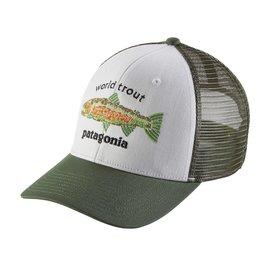 Patagonia Patagonia World Trout Fishstitch Trucker Hat - White