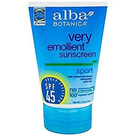 Alba Sport Sunscreen SPF45 4 oz.