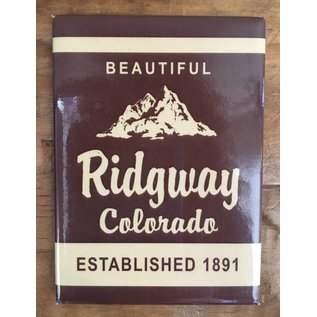 "Ridgway Colorado ""National Forest Style"" Magnet Brown"