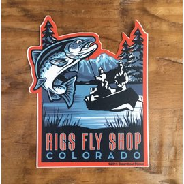 Drift Boat - RIGS Fly Shop Sticker