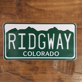 Ridgway Colorado License Plate Sticker