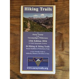 Hiking Trails of Ouray County & the Uncompahgre Wilderness - map