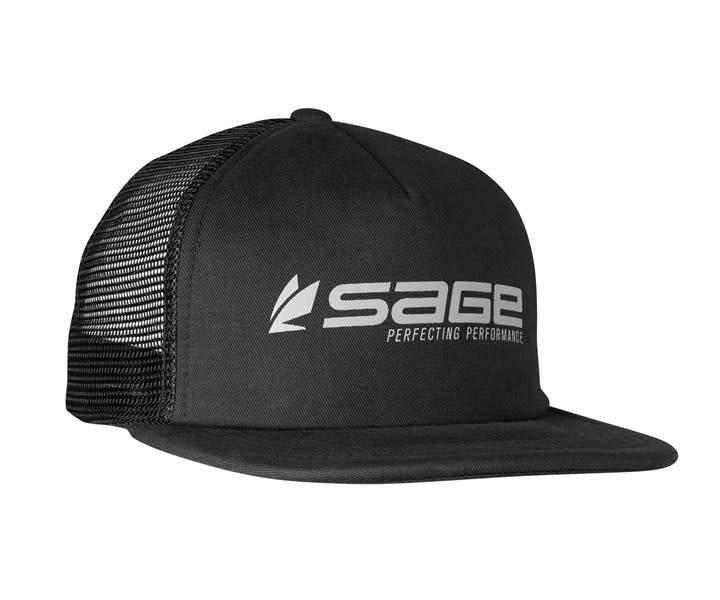 Sage foam trucker black rigs fly shop for Sage fly fishing hat