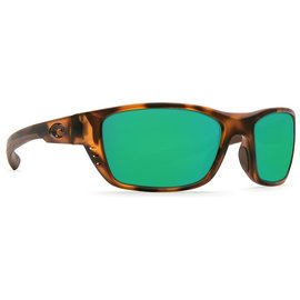 Costa Del Mar Costa White Tip Green Mirror - 580G - Matte Retro Tortoise Frame (M)