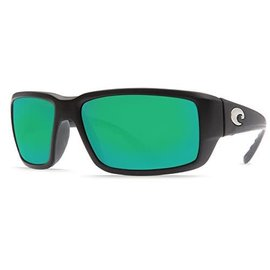 Costa Del Mar Costa Fantail Green Mirror - 580G - Matte Black Omni Fit Frame (M)