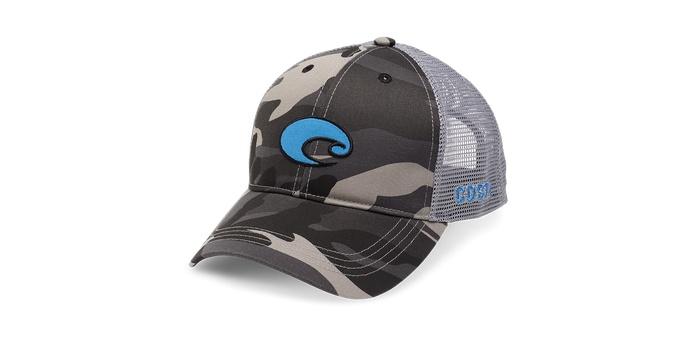 077e7fe61eaf2 norway costa del mar costa camo trucker hat xl fit gray camo 0c1e5 8d851