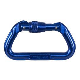 NRS Omega Standard Locking D Carabiner - Blue