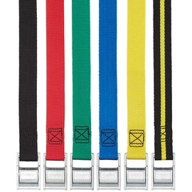 NRS Color Coded Tie-Down Strap - 12' - Black/Yellow