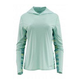 RIGS Women's Solar Flex Hoody - Wintergreen - RIGS Logo -
