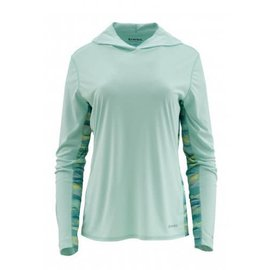 Simms Fishing Simms Women's Solar Flex Hoody - Wintergreen - RIGS Logo
