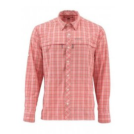 Simms Fishing Stone Cold Long Sleeve Shirt Dusty Coral Plaid