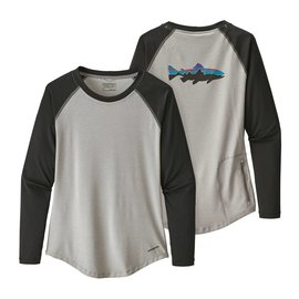 Patagonia Patagonia Women's Tropic Comfort Crew Fitz Roy Trout - RIGS Logo - Drifter Grey