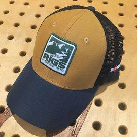 RIGS Logo Mesh Cap- Whiskey/Navy/Navy