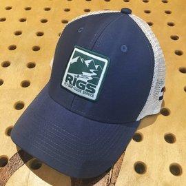 RIGS RIGS Logo Trucker Cap - Indigo/Natural