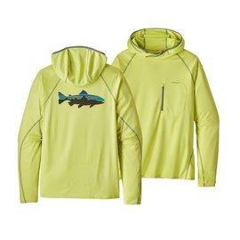Patagonia Patagonia Men's Sunshade Technical Hoody Fitz Roy Trout - RIGS Logo - Celery Green