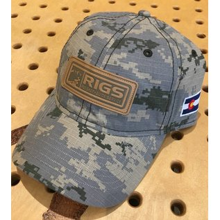 RIGS Digitial Camo Cap Leather Patch
