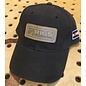 RIGS Leather Patch Oil Canvas Full Cloth Hat - Dark Brown