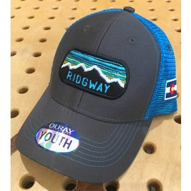 RIGS Ridgway Youth Sideline Mesh Cap - Dark Grey/Neon Blue