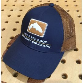 Simms Fishing Simms CBP Trout Icon Trucker Hat - RIGS Logo - Admiral Blue