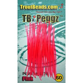 Troutbeads Peggz - Pink - 50 count