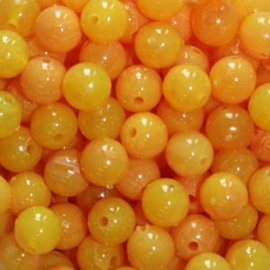 6mm TroutBeads Egg Yolk - 50 Count
