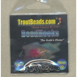 Troutbeads size 12 - 25 pack BeadHooks