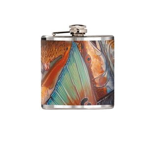 DeYoung DeYoung Stainless Steel 6oz. Flask - Red Fish