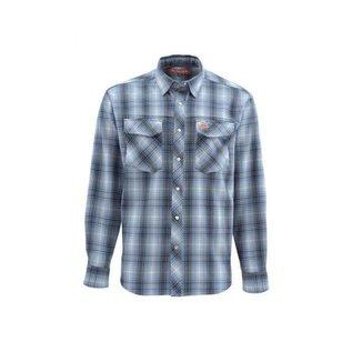 Simms Fishing Gallatin Flannel Shirt - Dark Moon Plaid