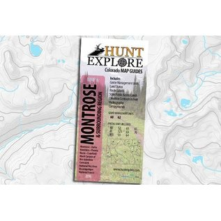 Hunt Explore Colorado Map Guides Hunt Explore Colorado Map Guide - Montrose