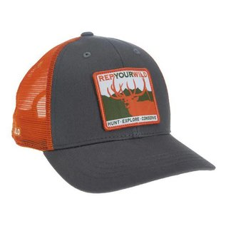 Rep Your Water Rep Your Wild - Gray/Blaze Mesh Back Hat