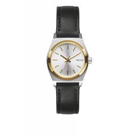 Nixon Nixon - SMALL TIME TELLER LEATHER - Silver/Gold/Black