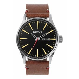 Nixon Nixon - SENTRY LEATHER - Black/Brown