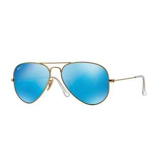 Ray-Ban Ray-Ban - AVIATOR LARGE 58 (112/4L) - Matte Gold w/ Blue Mirror POLAR
