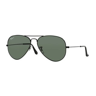 Ray-Ban Ray-Ban - AVIATOR LARGE 58 (002/58) - Black w/ Green POLAR
