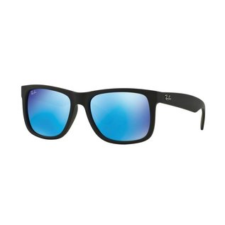 Ray-Ban Ray-Ban - JUSTIN (622/55) - Rubber Black w/ Blue Mirror
