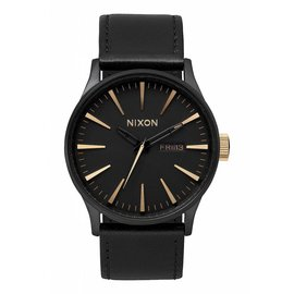 Nixon Nixon - SENTRY LEATHER - Matte Blk/Gold