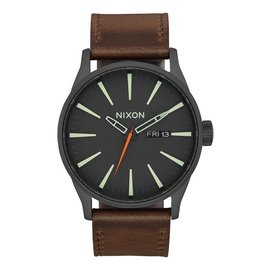 Nixon Nixon - SENTRY LEATHER - Blk/Lum/Taupe
