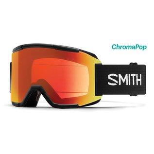 Smith Optics Smith - SQUAD (Asian Fit) - Black w/ CP Everyday Red Mirror + Bonus Lens