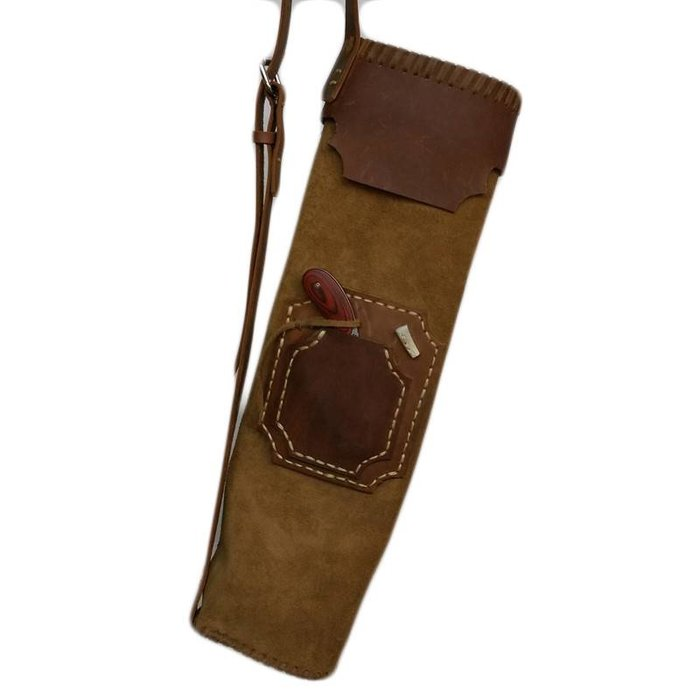 Leather Backquiver w/ knife